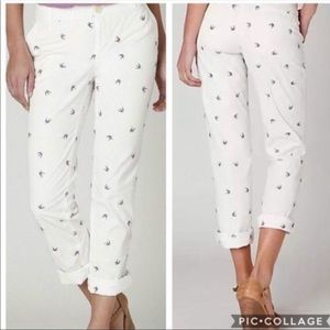 Anthro Liberation White Starling Bird Trousers
